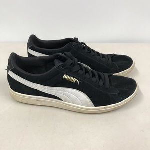 Puma Black Suede Running Shoes Sneakers